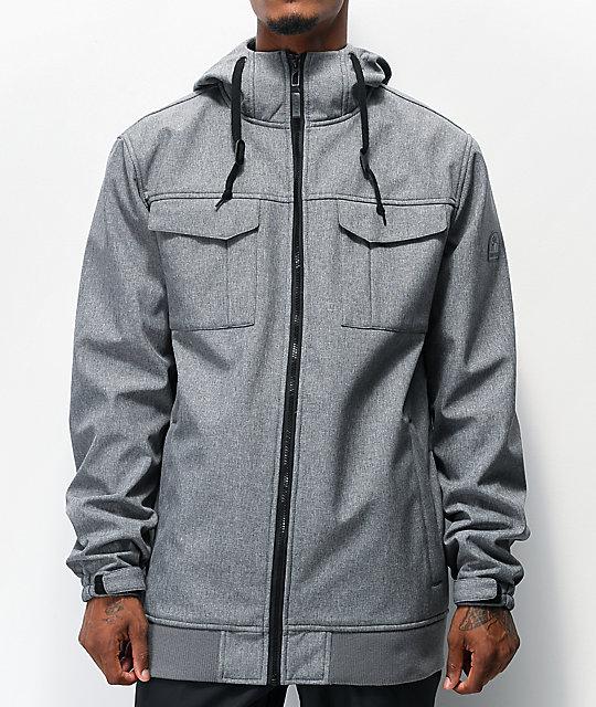 Empyre Blizzard Grey Softshell 10K Snowboard Jacket   Zumi