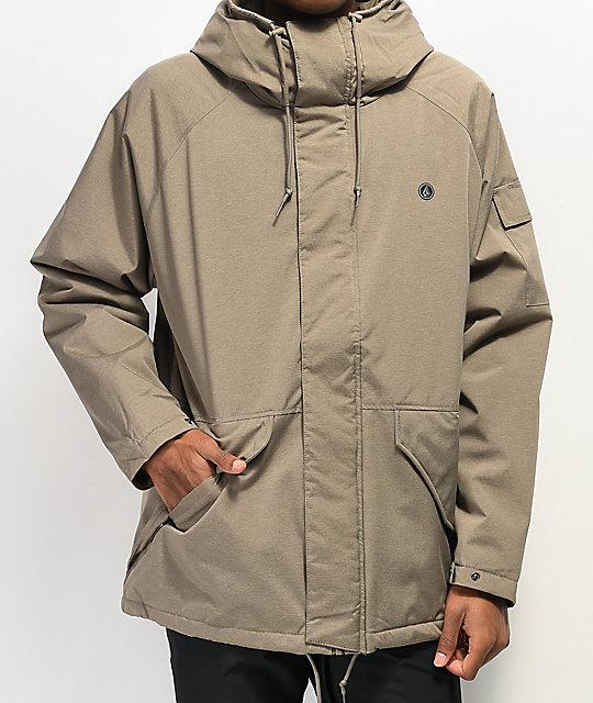 Volcom Synthwave Khaki 5K Snowboard Jacket   Zumi