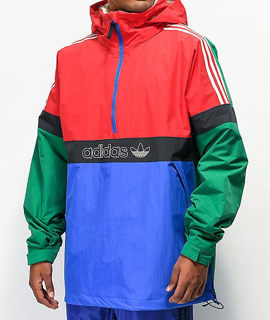 adidas BB Snowbreaker Green & Red 10K Snowboard Jacket   Zumi