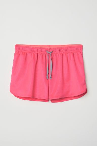 Sports shorts - Neon pink - Ladies   H&M