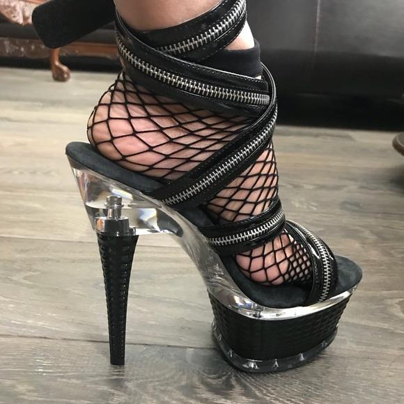 Ellie Shoes | Exotic Goth Stripper Stilettos | Poshma