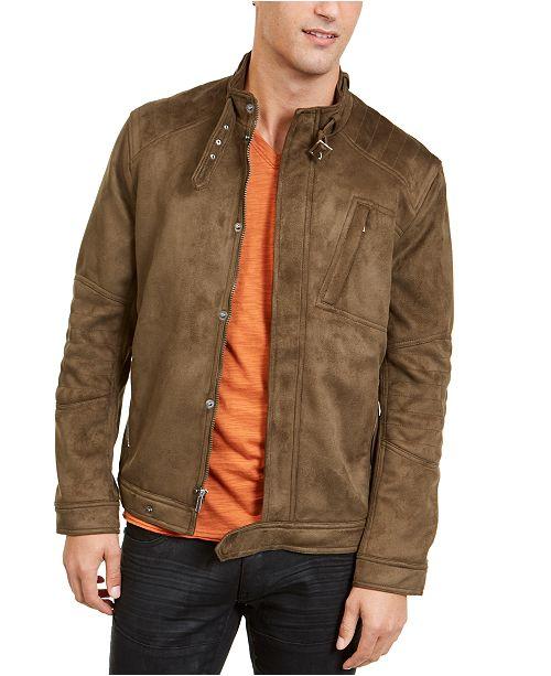 INC International Concepts INC Men's Faux Suede Jacket, Created .
