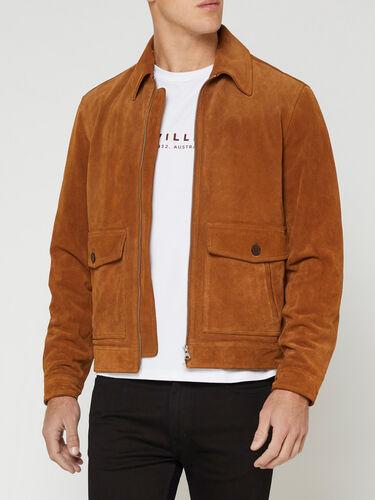 Blouson Zip Suede Jacket - Men's Jackets at R.M.Williams
