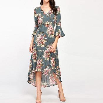 Oem Services Floral Dresses Women Lady Professional,Fashion Trend .