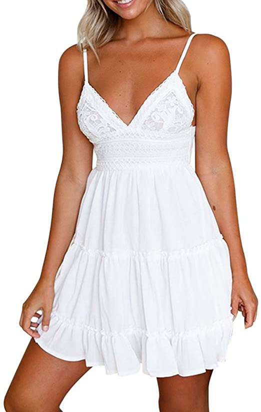Amazon.com: Liraly Women's Sun Dress For ! Backless Mini Dress .