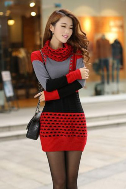sweater, winter sweater, spring sweater, red sweater, fashion .