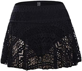 Amazon.com: JomeDesign Swim Skirts for Women Lace Crochet Skirted .