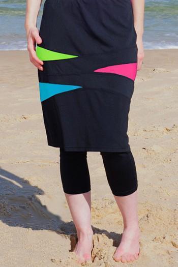 Long Swim Skirt w/ Swim Leggings - HydroCh