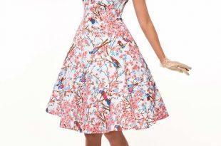 Cherry Blossoms 50s Tea Dress | Vintage Clothing Online - 1950s Gl