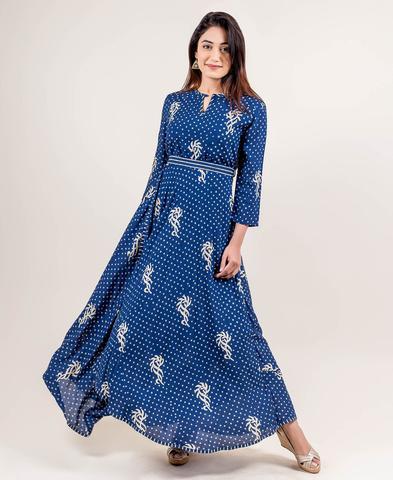 Top 10 Trendy And Fashionable Indigo Dress Of Missprint – MISSPRI
