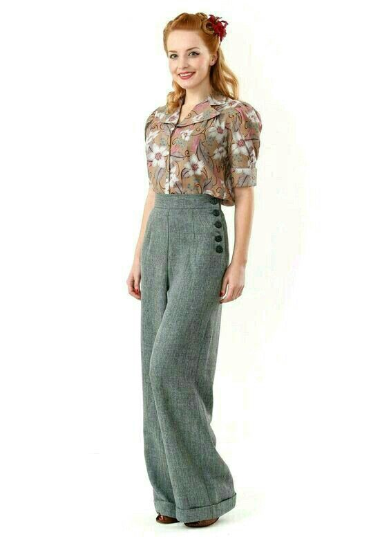 1940s trousers for women. I've always thought trousers (for women .