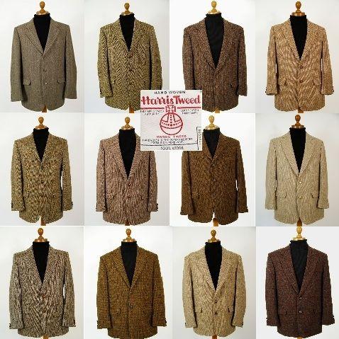 Brown Harris Tweed jacket. Mens brown Harris Tweed jackets.. pure .