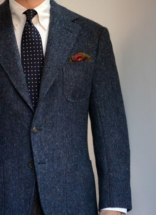 That Soft English Shoulder | Tweed jacket men, Mens fashion .