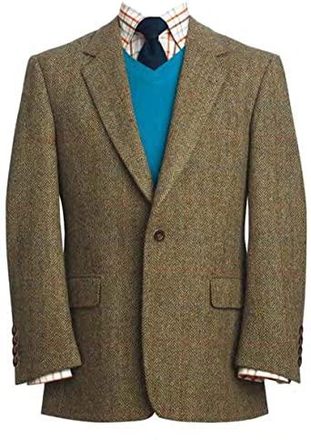 Harris Tweed Men's Jacket The Stromay at Amazon Men's Clothing sto