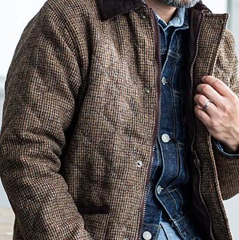 GLENCHECK: [Harris Tweed] HARRIS TWEED quilting jacket [Harris .