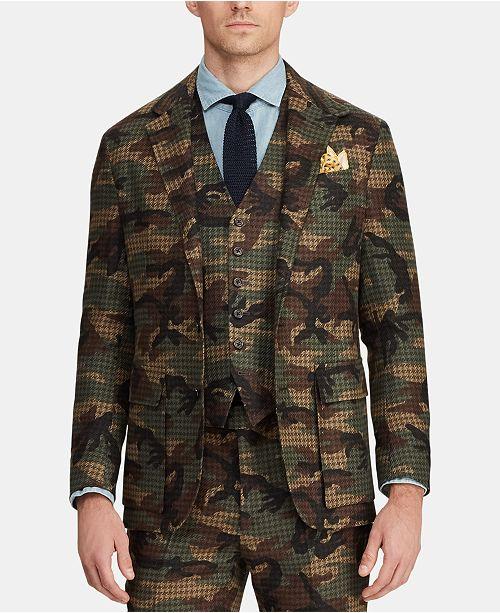 Polo Ralph Lauren Men's Morgan Camo Tweed Suit Jacket .