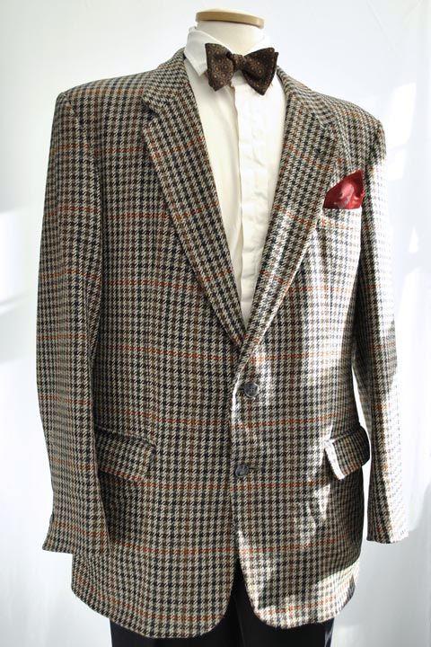 Men's Austin Reed Grey Houndstooth Tweed Jacket 44R mens austin .