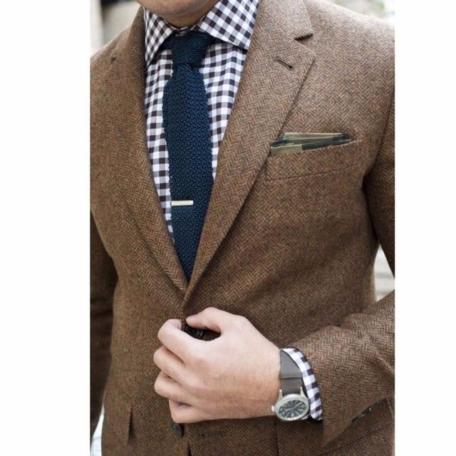 Mens Tweed Jacket Custom Made Brown Tweed Coat,Bespoke Tweed Mens .