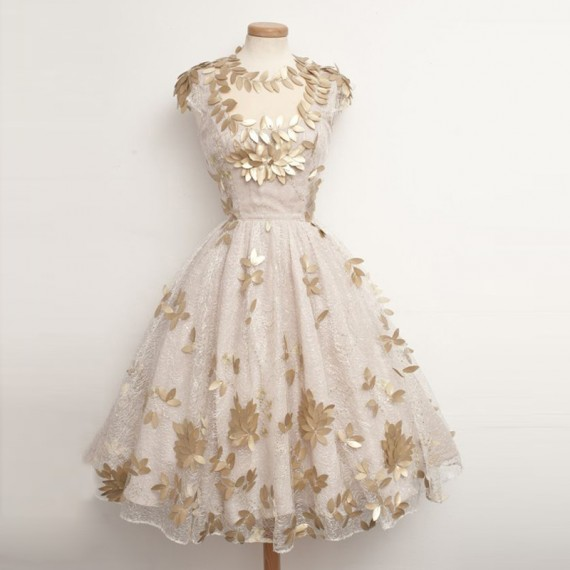 Unique Ball Gown Lace White Homecoming Dresses with Gold Leaves .
