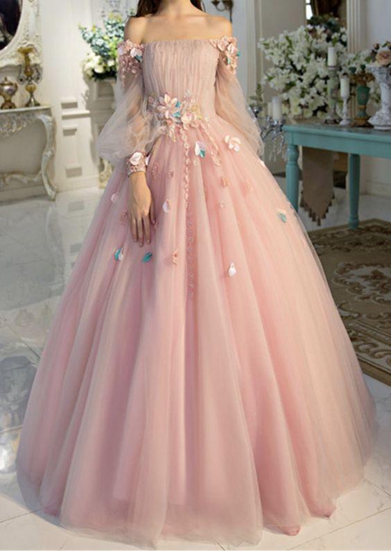 Off-the-shoulder wedding dress long sleeves Prom Dresses Unique .