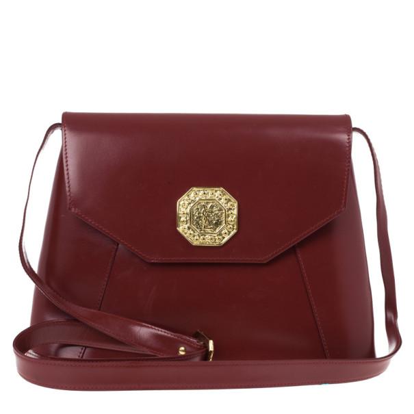 Yves Saint Laurent Red Leather Vintage Shoulder Bag Saint Laurent .