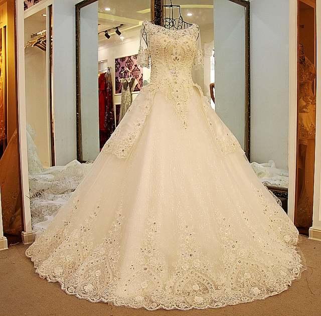 Online Shop LS54420 Glitter wedding dresses short sleeves lace up .