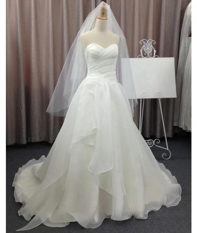 Wedding dresses,sweetheart wedding dress,a-line chiffon bridal .