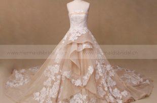 Latest Lace Wedding Gown Designs Champagne Designer Wedding Dress .