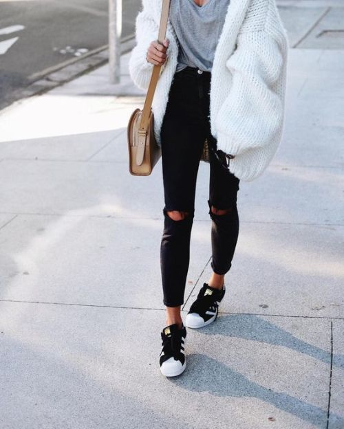 chunky white cardigan outfit – Just Trendy Gir