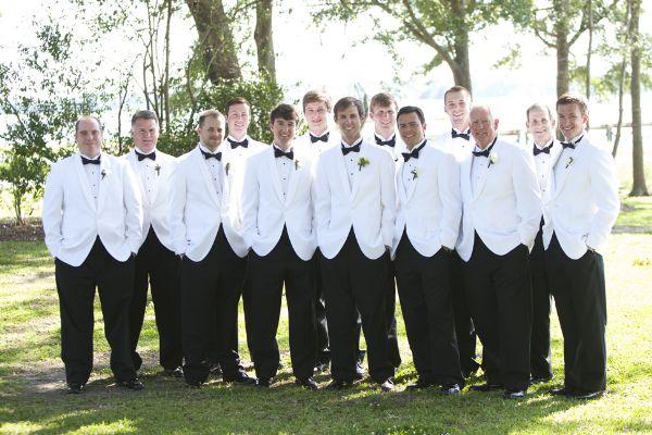 groom wearing white dinner jacket Archives - Southern Weddin