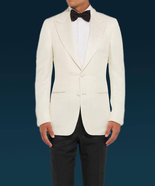 James Bond Tuxedo | White Ivory Dinner Jack
