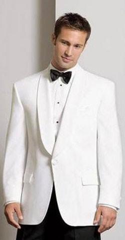 White Dinner Jacket Microfiber Shawl Lapel Tuxedo Jacket Wedding .