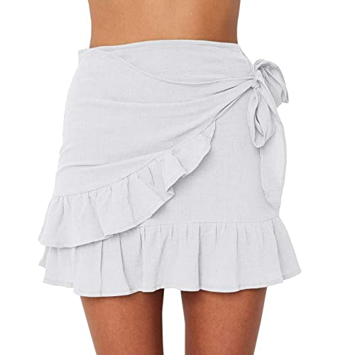 White Mini Skirt: Amazon.c