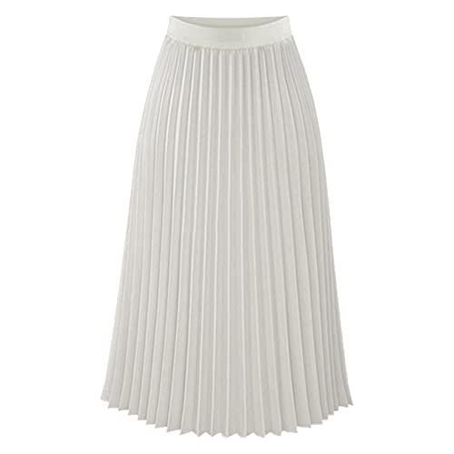 White Pleated Skirts: Amazon.c