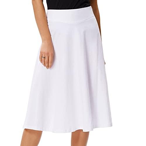 White Midi Skirt: Amazon.c