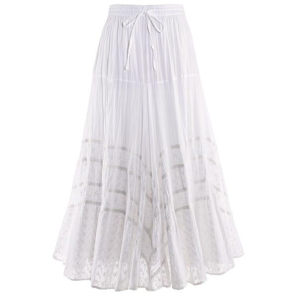 Shop Catalog Classics Women's Embroidered Full Circle Maxi Skirt .