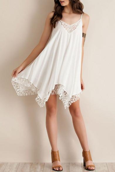 Pixi - White Lace Sundress – Fr