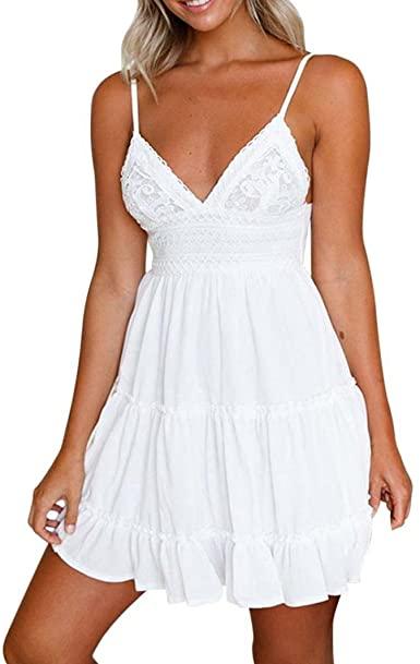 Kangma Dress Kangma Women Backless Mini White Lace Party Beach .