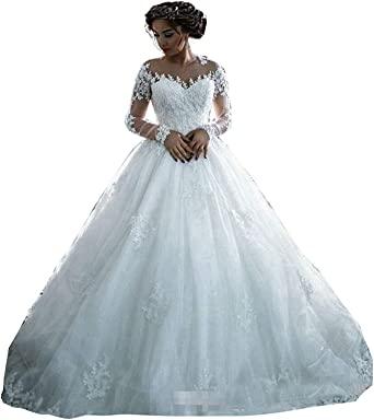 Fanciest Women's Lace Wedding Dresses Long Sleeve Wedding Dress .