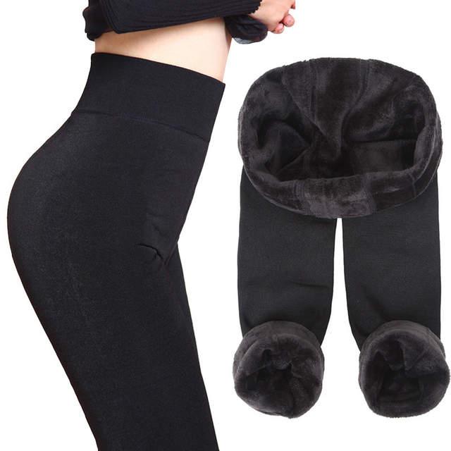 Thick Fleece Leggings Women leggins Winter Legging Womens Legins .
