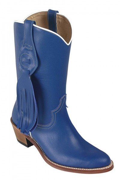 ROYAL BLUE COWBOY BOOTS WITH FRINGES Girls leather blue country boo