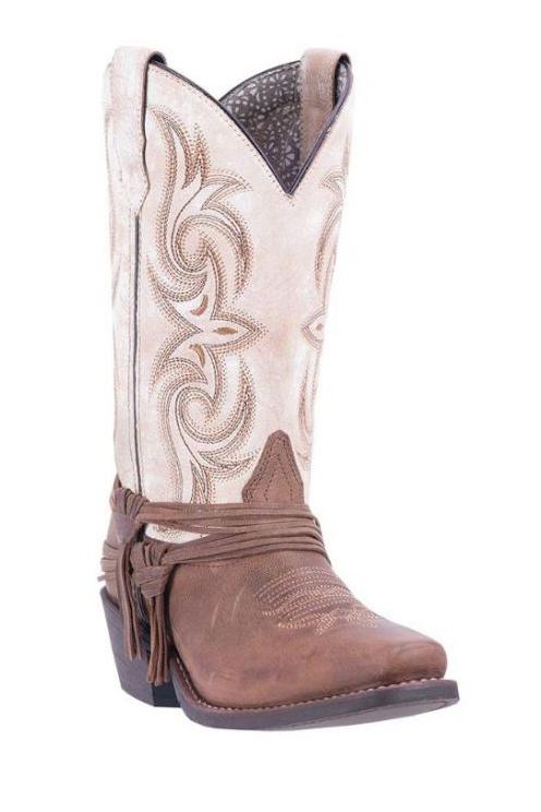 Laredo Women's Myra Square Toe Cowboy Boots   The Boot Ja