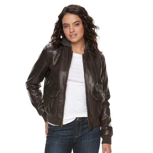 Women's Levi's® Faux-Leather Bomber Jack