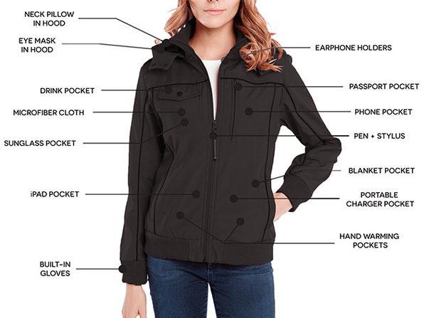 BauBax Women's Bomber Jacket (Black)   Joy