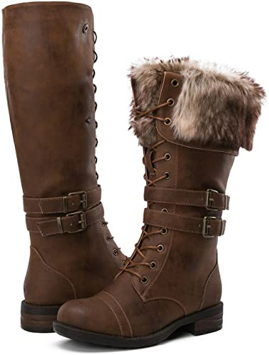 Amazon.com | GLOBALWIN Women's Fashion Boots | Knee-Hi