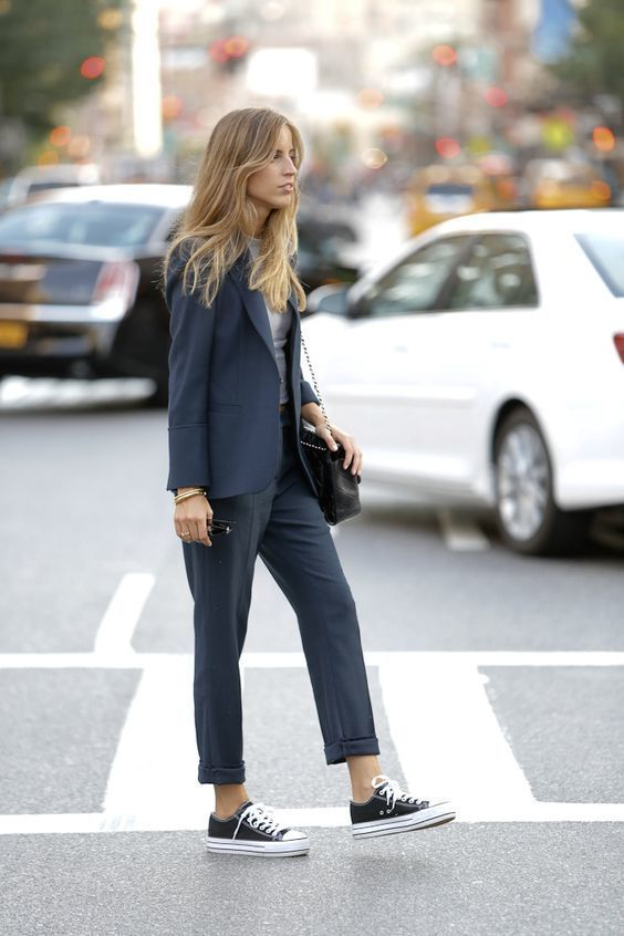 Womens' Suits With Sneakers – 27 Ways To Style Suits With Sneakers .