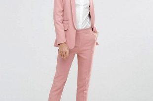 ASOS Premium Edge to Edge Suit in Dusty Pink   Womens suits .
