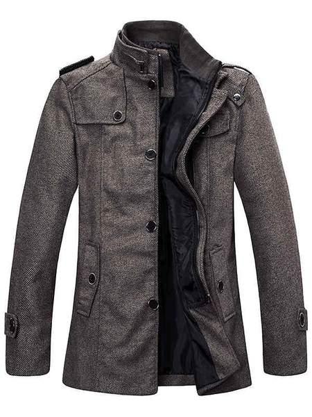 Men's Wool Blend Pea Coat Winter Jackets – Want