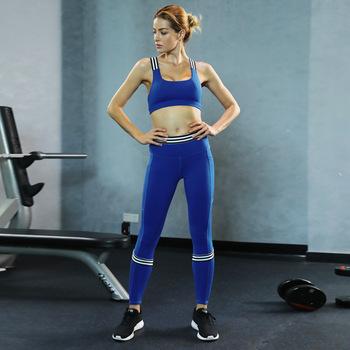 Zc1842 Wholesale Oem Factory Women Workout Clothes Blue Girls Yoga .