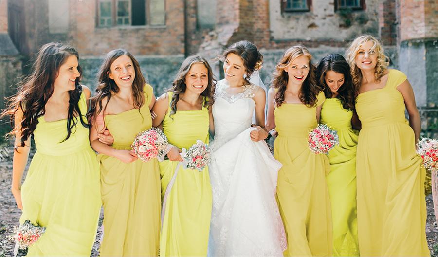 How to Organize Yellow Wedding | 4 Styles of Yellow Bridesmaid Dress
